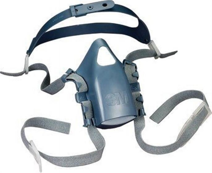 7581 Head Harness Assembly - For 3M 7500 Series half masks Pack of 5 X 4-7581-Camlab