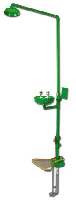Range DL -Combination Shower & Eye-Washer Safety Station - Hand and Foot Operating
