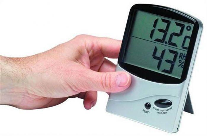 Jumbo Memory Thermo-Hygrometer