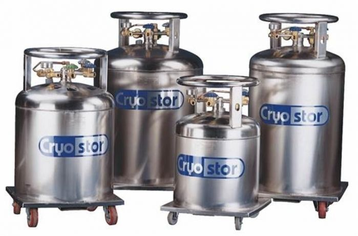 Cryostors - low pressure liquid nitrogen supply vessels