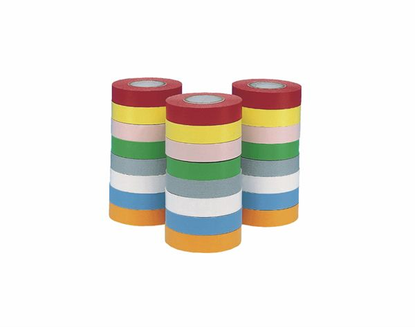 Labelling Tape Rainbow Pack 1/2 Inch Wide x 500 Inch (12.7m) Long Pack of 24 Reels