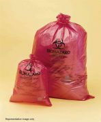 Bel-Art Red Polypropylene Biohazard Disposal Bags 64x89cm 0.04mm Thickness Pack of 200-13164-2535-Camlab