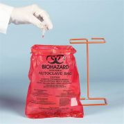 Autoclavable Biohazard Bags 22x28cm Pack of 100-13166-0000-Camlab
