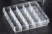 Petri dishes 100mm Square - 25 compartments PS Aseptic Pack of 120