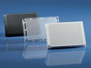 Brand BRANDplates 1536 cellGrade PS black F-bottom sterile Pack of 50 pieces -camlab