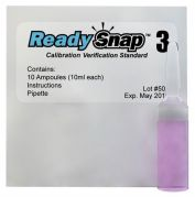 Ready Snap 3 Calibration Verification Solution Red Dye 525nm Pack of 10