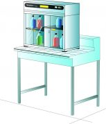 Captair Ministore 822A on Bench version Cabinet Only (without filters).
