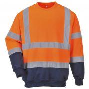 Orange Two-Tone Hi-Vis Sweatshirt - Size Large - Each-B306O/L-Camlab