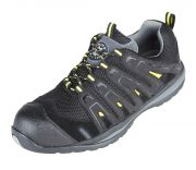 4208 FALCO Black/Yellow Metal Free Safety Trainers SRC Slip Resistant