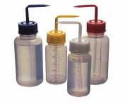 Graduated Wash Bottles with Colour Coded Caps-camlab