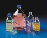 Duran Glass Laboratory Bottles with PP Cap and Pouring ring-camlab