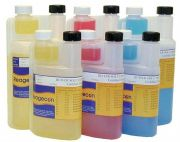 Reagecon Twin Neck Bottle Coloured pH Buffers - pH Values At 20°C from Camlab