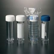 Clear Polystyrene Containers with Screw Caps-camlab
