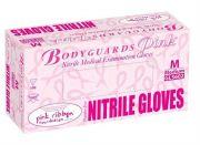 Bodyguards Pink Powder Free Nitrile Gloves AQL 1.5-camlab