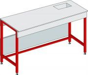 Wet laboratory benches with small sink-Camlab