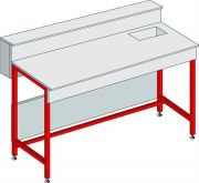 Wet laboratory benches with sink and skirting / shelf-Camlab