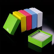 Camlab Choice Cardboard Cryo Boxes with plastic dividers- 81 and 100 Place Mixed Colours from Camlab