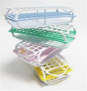 Camlab Plastics 3 Tier Polypropylene Test Tube Racks - build your own multipacks from Camlab