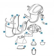 Spares and Accessories for Versaflo M-400 Series Faceshields--Camlab