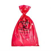 Camlab Choice Red biohazard PE autoclave bags 210x290x0.02mm Pack of 1000 from Camlab