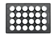 Cell Imaging Plate 24well flat bottom TC treated black/clear w lid individually wrapped 20 per case-0030741005-Camlab