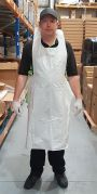 White Disposable Aprons, 16 micron, HDPE. Pack of 100-APRON-Camlab