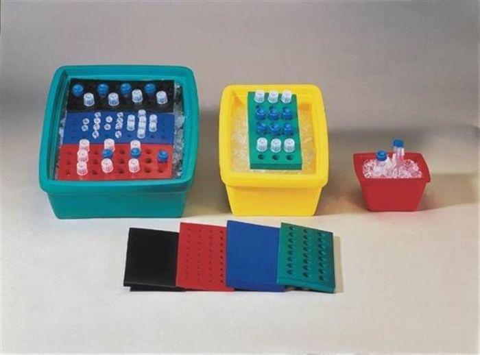 Rectangular PVC test tube rack