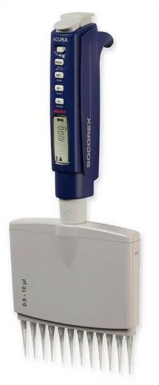 Socorex® Acura® electronic 956 multichannel pipette - 12 channel