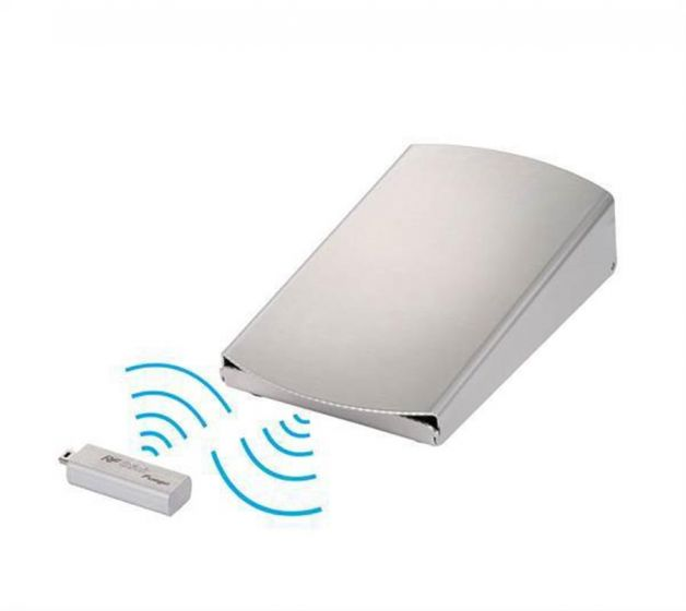Wireless radio frequency foot pedal (stainless steel)