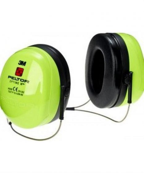 PELTOR Optime III Ear Muff Neckband Hi-Viz Pack of 20-camlab