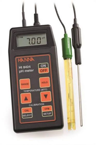 Water Resistant handheld pH mV meter  with electrode and temp probe