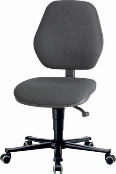 Laboratory Basic 2 Grey fabric upholstery lab chair with seat inclination