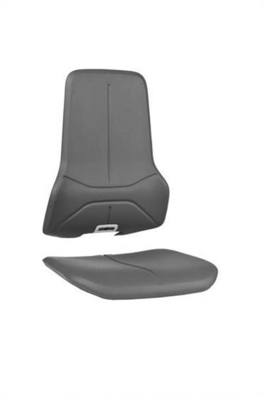 Grey washable synthetic leather seat pads for Bimos neon lab chairs