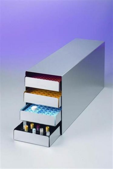 Stainless Steel Rack with Trays and Polypropylene Dividers
