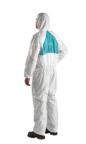 3M 4520 Coverall White & Green Type 5/6 Size L Pack of 20-camlab