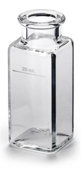 Glass Sample Cell 1 Inch Square 25ml Unmatched Pack of 2