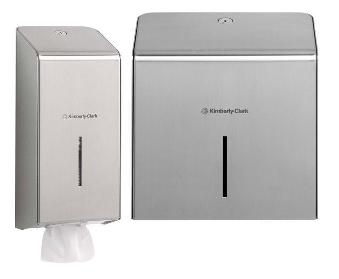 KIMBERLY-CLARK PROFESSIONAL Toilet Tissue Dispensers - Stainless Steel