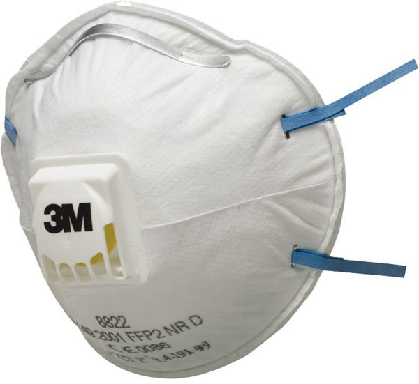 3M 8822 FFP2 Valved Dust/Mist Respirators