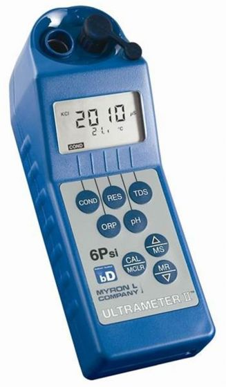 Ultrameter 6PIIfce Conductivity TDS Resistivity pH ORP Temperature