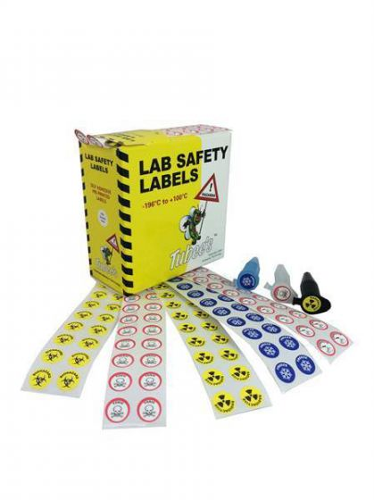 Camlab Plastics Tubees Hazard Warning Labels for microtubes from Camlab