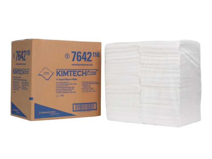 7642 KIMTECH Sealant Wipers - 1/4 Fold - White - 500 Sheets