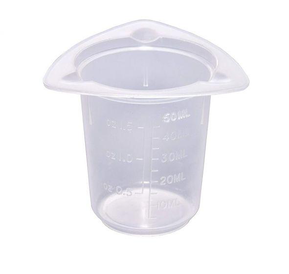 Tri-Corner Beaker 50ml Pack of 25-camlab