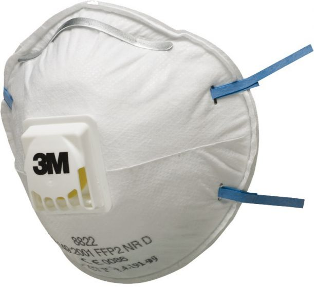 3M 8822 FFP2 Valved Dust/Mist Respirator - Pack of 5 x 8 (Total 40)