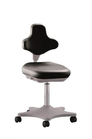 ESD Labster 2 anti static lab chair , black synthetic leather upholstery