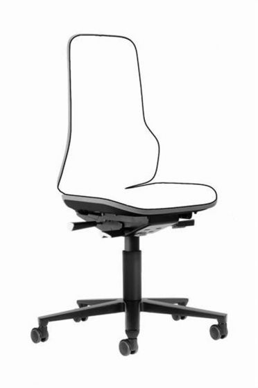 Neon 2 Lab Chair no seat pads Cool Grey flexband with castors