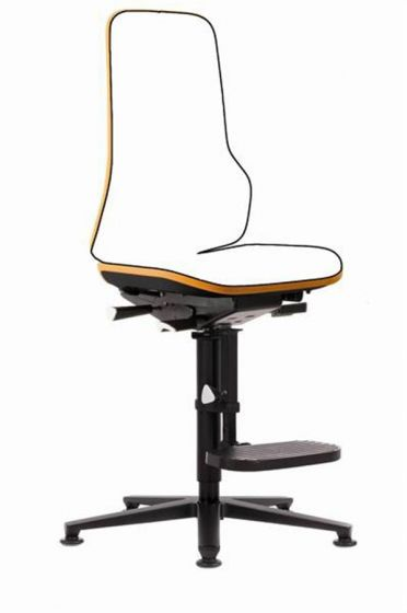 Neon 3 Lab chair no seat pads Happy Orange with auto adjust seat back
