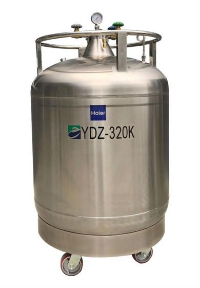 LN2 Self-pressurized Filling tank, 320L with castors, pressure stabilizing system-YDZ-320K-Camlab