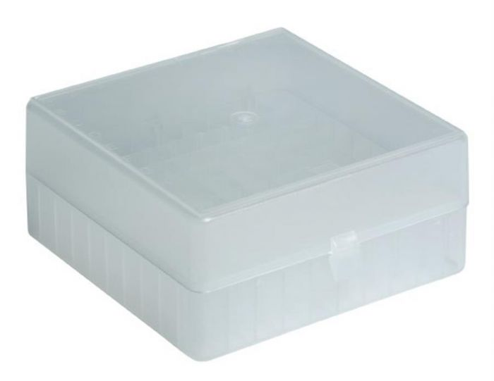 100 Place Freezer Box Natural with Hinged Lid & Stick on Grid for 0.5-2ml tubes-RTP/72101-NI-Camlab