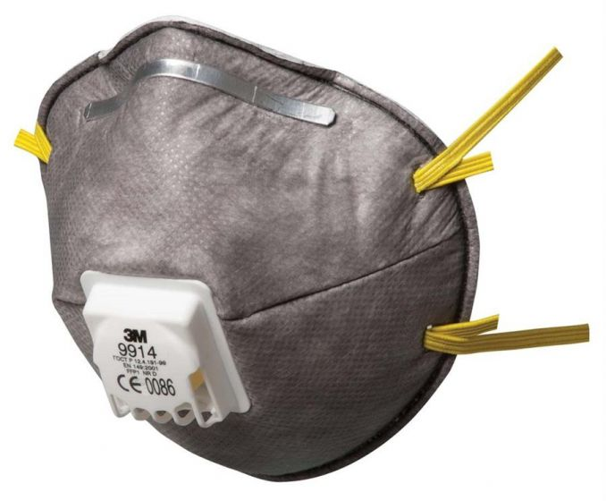 9914 Cup-Shaped Valved Dust/Mist/Nuisance Odour Respirator FFP1 Pack of 5 X 8 (total 40)-9914SP-Camlab