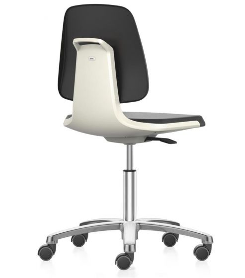 Labsit 2 Artificial leather seat White  shell,aluminium base